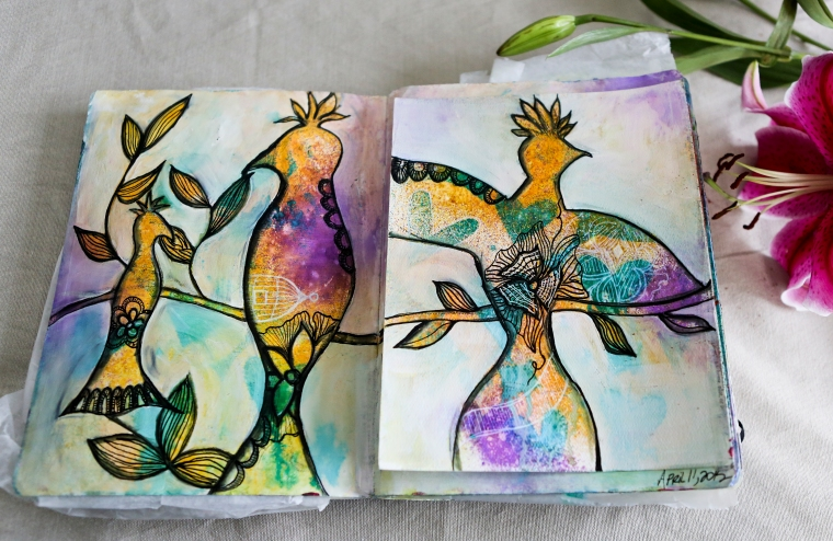 birds art journal