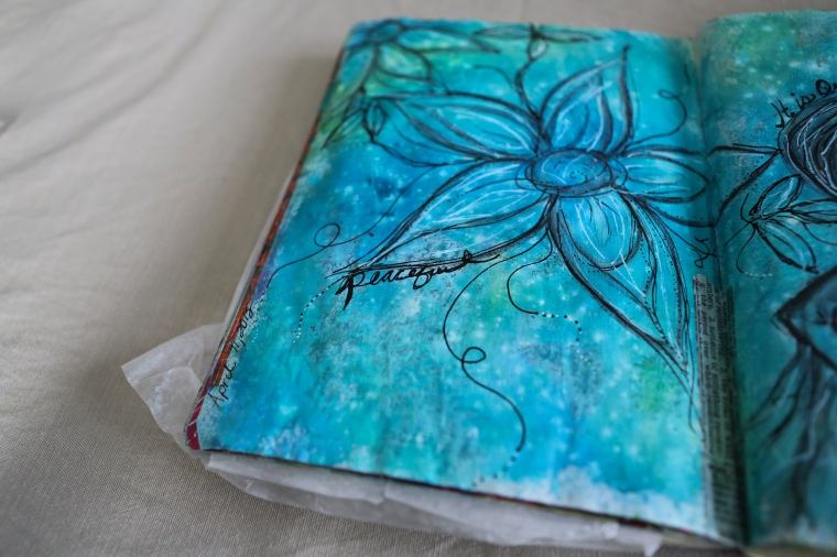 sleeping beauty art journal